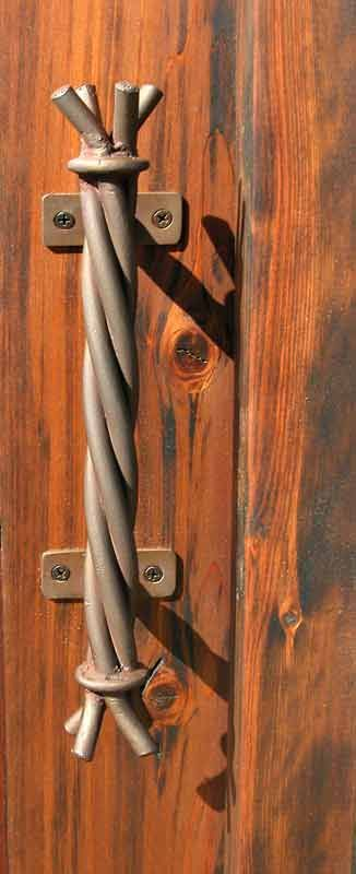 Door Pull - Twisted Rope in Hand Forged Iron - HH137