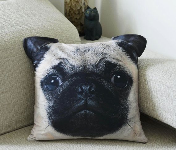 Pug Pet Dog Pillow Cover Cushion Cover Pillow Case by BENWINEWIN