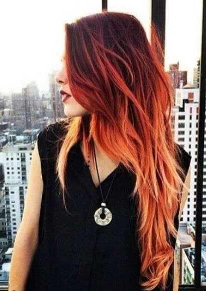 Fire hair: La nueva tendencia en tintes fantasía que te asegura un pelo color de fuego [FOTOS] - Negro
