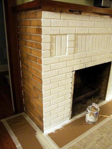 Fireplace ReDo: The Breakdown on painting brick...