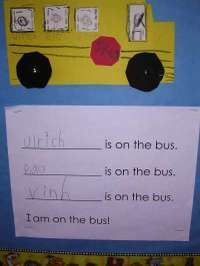 Cute beginning of the year shared reading idea- change names each day and reread together.Schools Activities, Bus Art, Bus Safety, Kindergarten Writing, Kindergarten Kindergarten, Wheelsbus2 4, Writing Activities, Schools Bus, Bus Activities