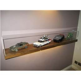 Acrylic Display Cases On Wall Mounted Floating Shelf | Perspex Display Cases & Exhibition Displays | Products