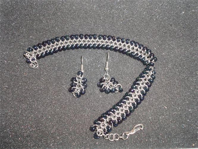 Beaded Bracelet + Shaggy Loop earrings
