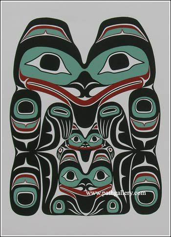 Edenshaw, Wayne 'Bear Mother & Cubs' - Northwest Coast Native Art