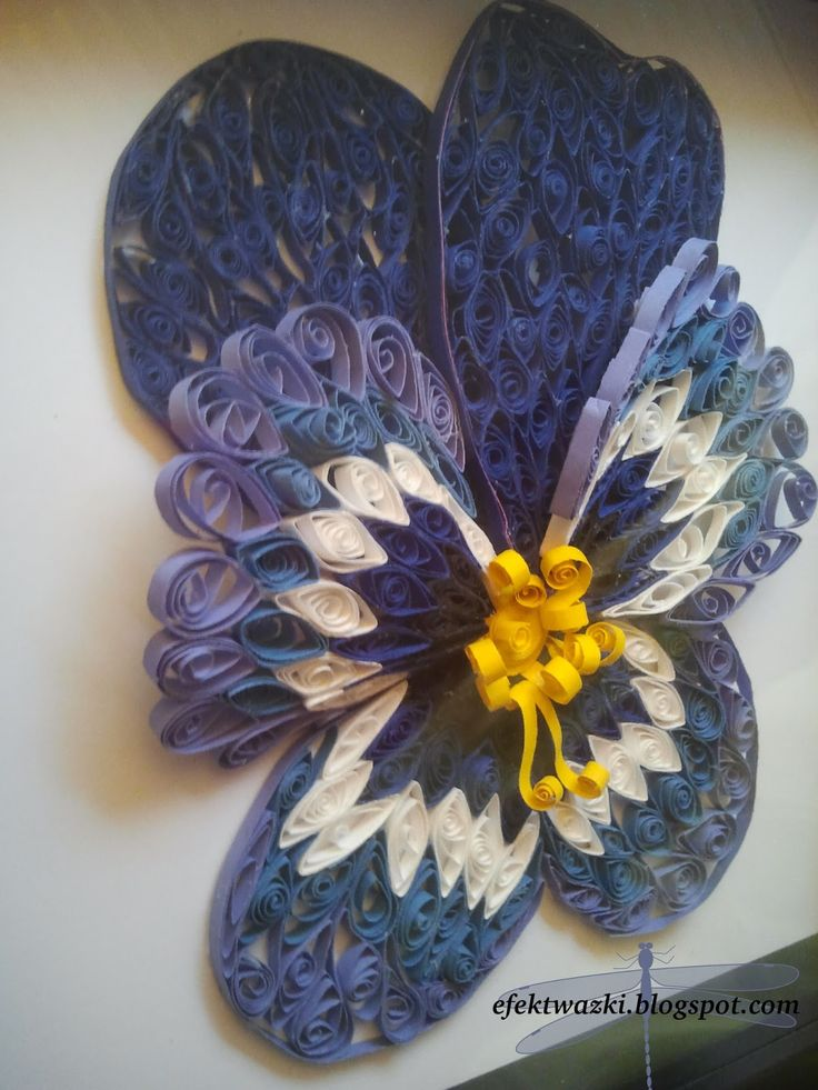 quilled pansy