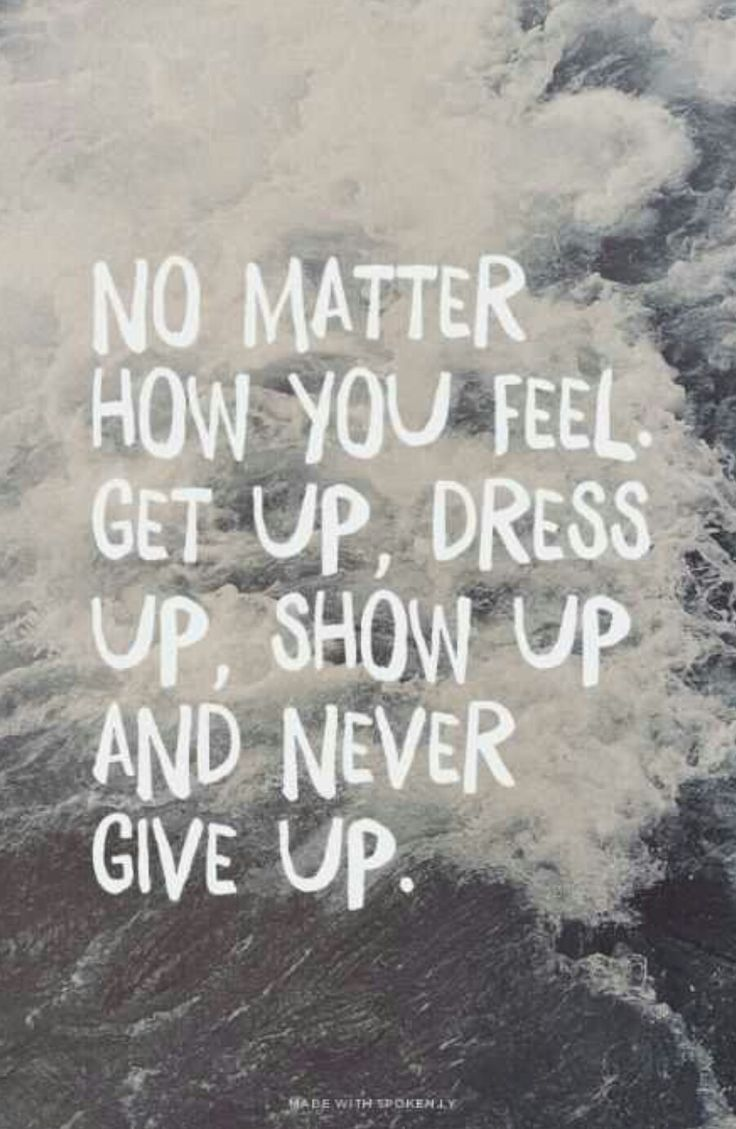 quote never give up and motivation image