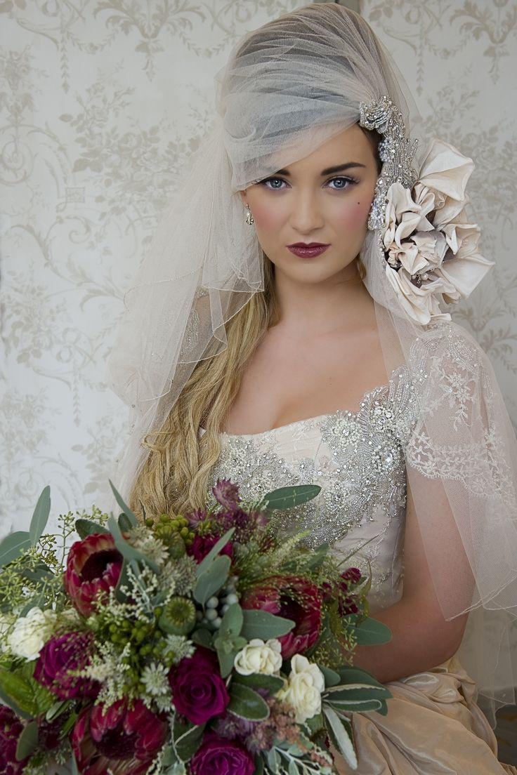 Bridal couture shoot, inspired by the Victorian era. Make-up by Tina Brocklebank. Joanna-Leigh Couture. Photo by Tracy Conway-Smith. Flowers by The Wedding and Flower boutique. Hair - Claire Snowden, Model - Siana Hemmings.