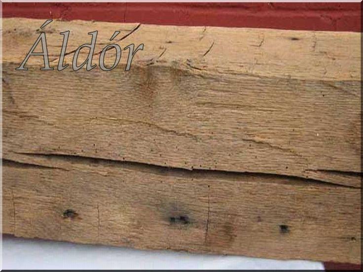 antik gerenda, egyedi falburkolat
