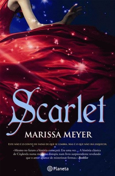 """""""Scarlet"""" in Portuguese. (This cover reminds me of FOR DARKNESS SHOWS THE STARS - so pretty!)"""