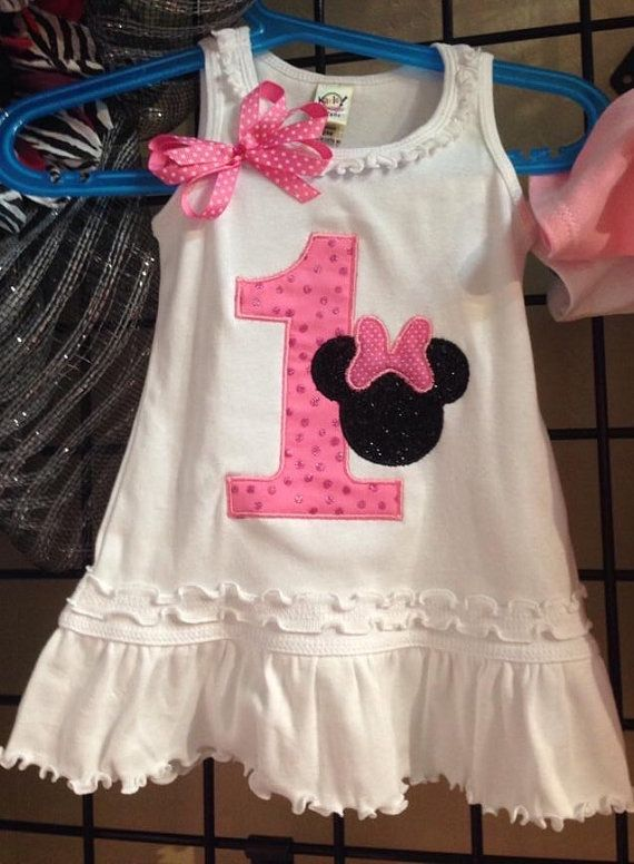 Minnie Mouse first birthday dress first by LolliePopsBoutique