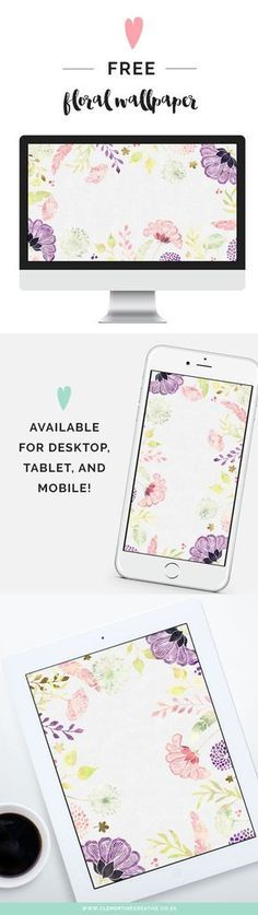 Free Floral Desktop Wallpaper - I Choose Happiness   Download this beautiful wallpaper from Clementine Creative