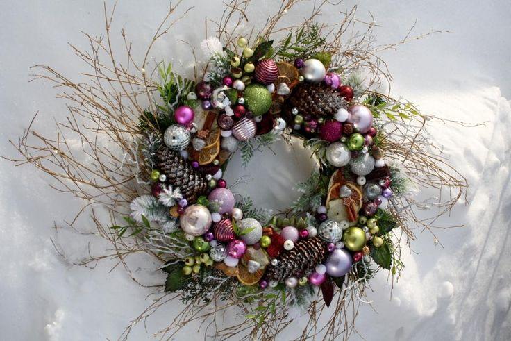 Wianek świąteczny na drzwi Pastelowe Święta - Dekoracje na Boże ...