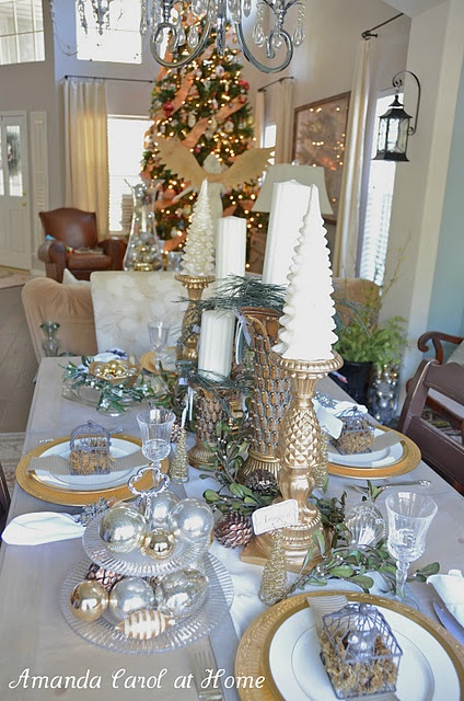 17 Best Images About Christmas Decor Gold And Ivory On