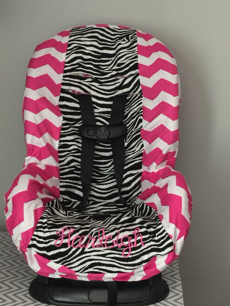 A personal favorite from my Etsy shop https://www.etsy.com/listing/484068007/zebra-pink-chevron-toddler-car-seat