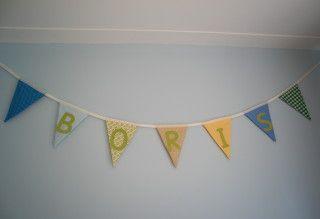 vlaggenlijn naam Boris, het Vrolijke Nest