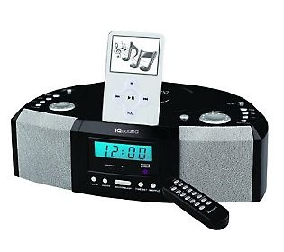 SuperSonic IQ-1305 Alarm Clock CD Player iPod Docking Station ... gonna get this.