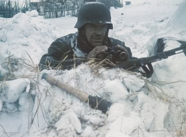 A Wehrmacht forward observer on the Eastern Front, Winter ...