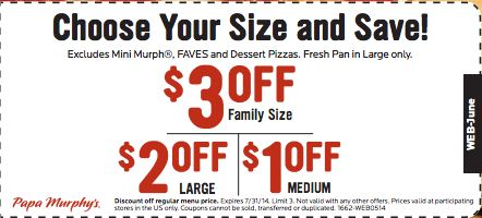 Papa Murphy's Dinner Circle is free to join online and gets you specials and promotions sent directly to your email or phone via text message. How to Redeem a Coupon Code at bestnfil5d.ga Redeeming coupon codes at bestnfil5d.ga is very simple. First, you .
