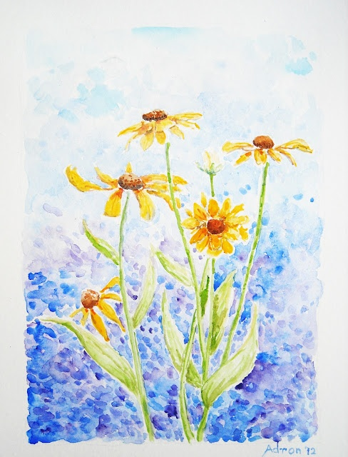 Artist Adron: Garden Watercolor: Gloryosia Daisies. You can read about it at my blog. http://artistadron.blogspot.com/2012/08/garden-watercolor-gloryosia-daisies.html#