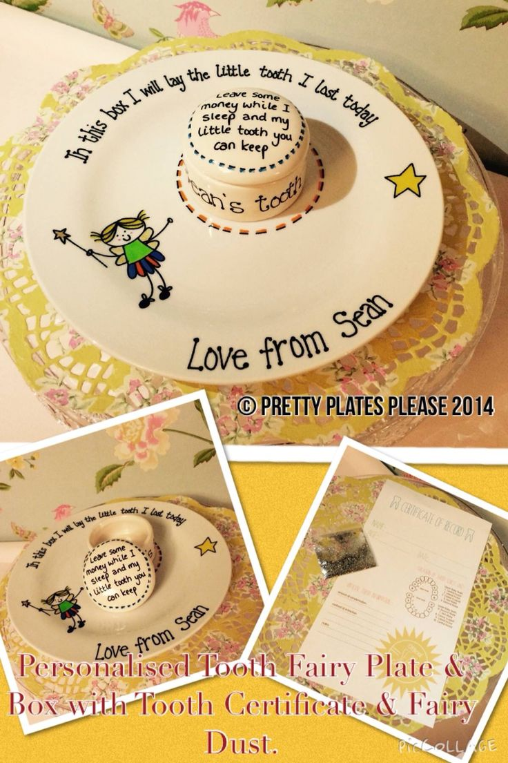 Tooth fairy box craft - Lovely Idea Doesn T Really Allow For The Under The Pillow Idea Personalised Platestooth Fairy Boxthe Teethsmall Bagscraft