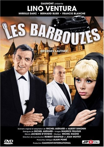 Les barbouzes - Michel Audiard    Cold war burlesque about agents for rival governments who pursue the sexy young widow (Mireille Darc) of an arms dealer, trying to get their hands on the patents he controlled.