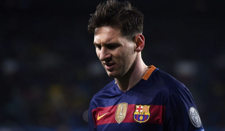 Messi back in Barcelona training