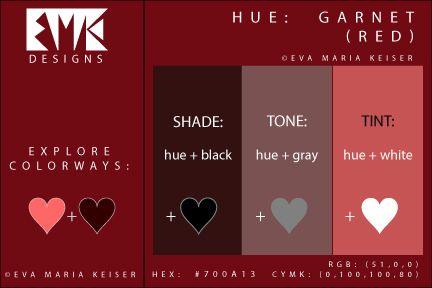 "Eva Maria Keiser Designs: Explore Color: ""Garnet"" (Shade, Tone, Tint)"