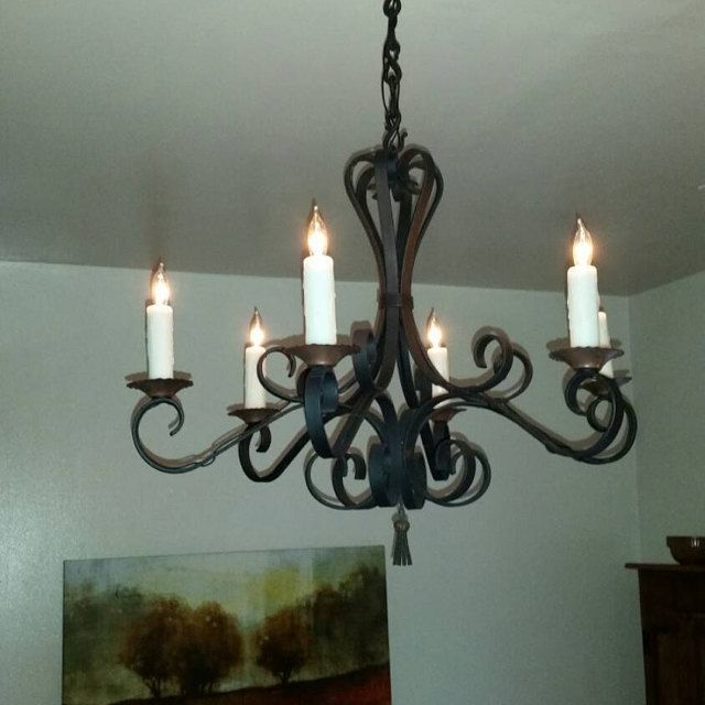 Lighting Lamp Chain Wrought Iron S Hook 1 4 In Dia Made By
