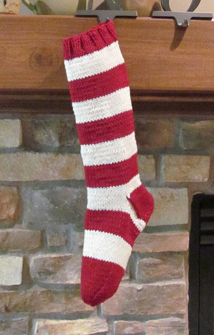 106 best stockings images on pinterest wish you merry christmas red and white striped hand knit christmas stocking 3000 via etsy bankloansurffo Choice Image