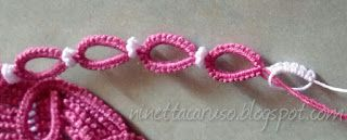 Chiacchierino facilissimo: who needs beads?  Tatted Beads !!!!!