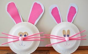 Osterhasen zu Ostern mit Kleinkindern basteln