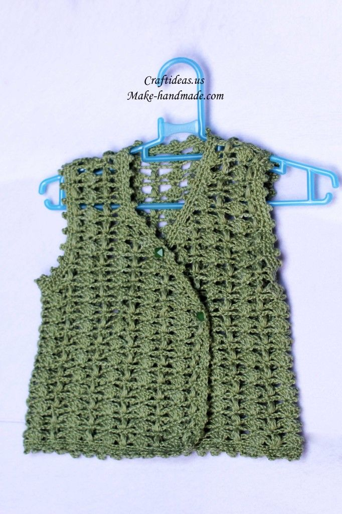 crochet baby vest and jacket, crochet pattern make ...