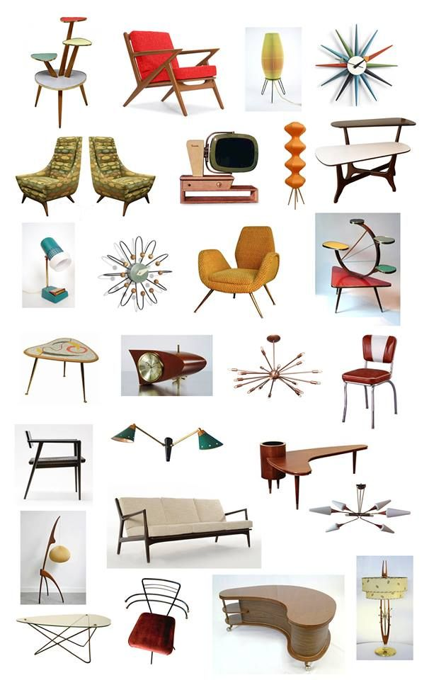 As a child of the 1960s, you might remember the leftover atomic age inspired furniture from the 1950s