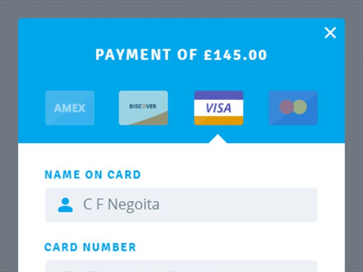 Payment Modal by Cosmin Negoita