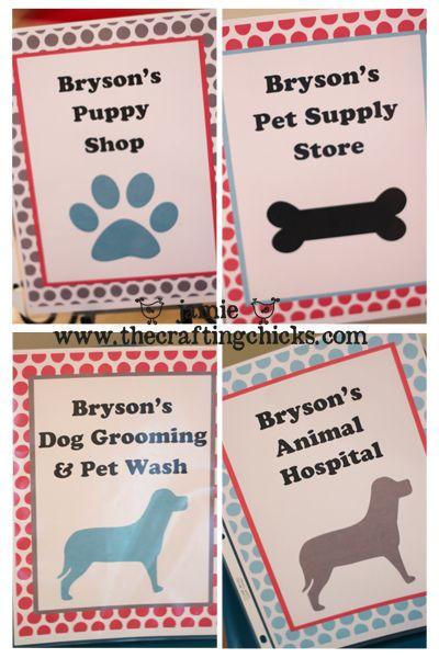 sm puppy shop signs vert