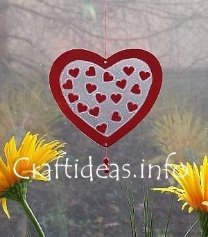 Valentine's Day Craft - Heart Window Decoration