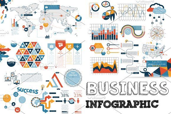 Business Infographic by Infographic Paradise on @creativemarket