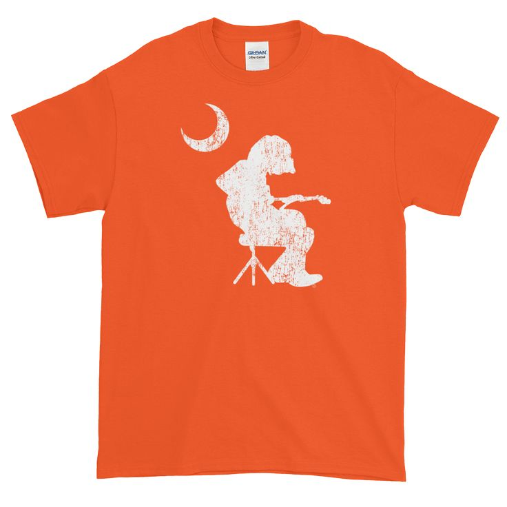 WSP Houser Seated Palmetto Moon White DISTRESSED Short sleeve t-shirt