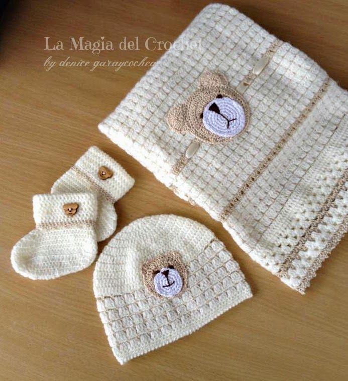 completo para recin nacido a crochet