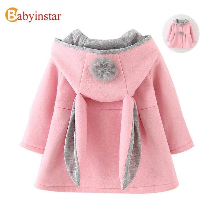 Nice Cute Rabbit Ear Hooded Baby Girls Coat New Autumn Tops Kids Warm Jacket Outerwear & Coat Children Clothing Baby Wear Girl Coats - $ - Buy it Now!