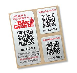 BikeGuard, created by MyAssetTag.com, is a FREE sticker that the Boys & Girls Clubs of Newark Bike Exchange offers to those who purchase bikes! The QR code is significant to you and you only, and keeps track of misplaced or stolen bikes, completely for FREE!