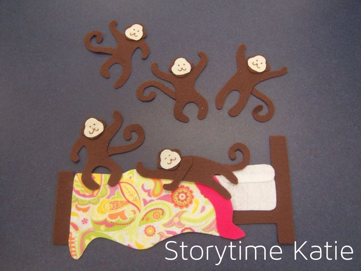 Flannel Friday: Five Little Monkeys Jumping On the Bed | storytime katie