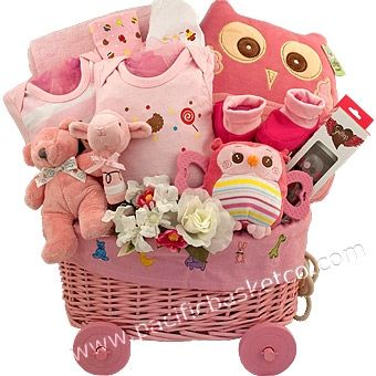 40 best baby gift baskets images by pacific basket company on baby girl deluxe gift basket negle Image collections