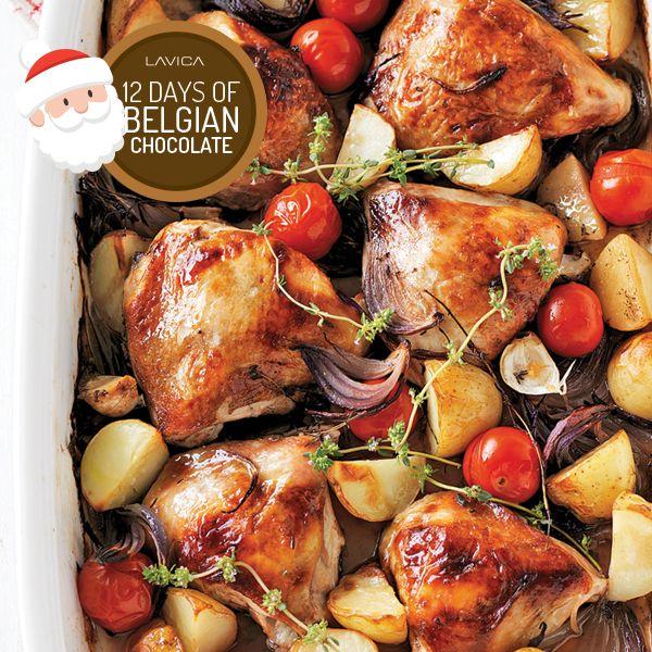Belgian Chocolate Espresso-Balsamic Roasted Chicken