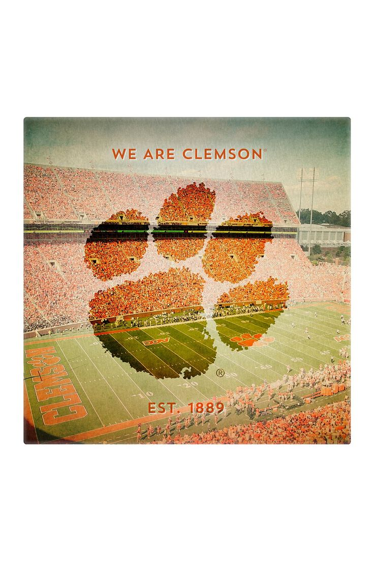 Replay Photos | Gallery Wrapped Canvas of Clemson University Logo Art | HauteLook $99