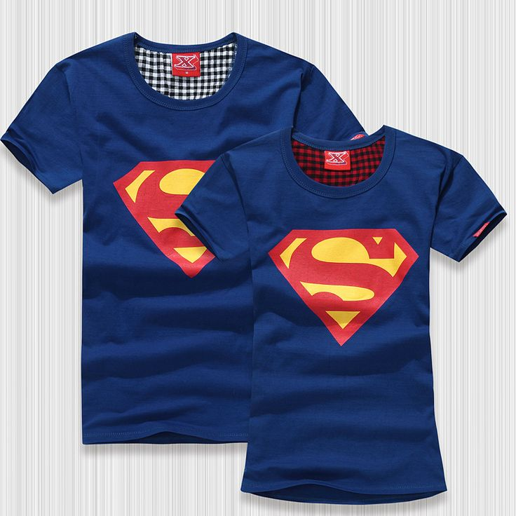 Superman T Shirt 2014 Newly Fashion Women and Men's Tshirt Slim Fit Short-sleeve O-neck 100% Cotton Tshirt for Couples 4 Colors $14.80