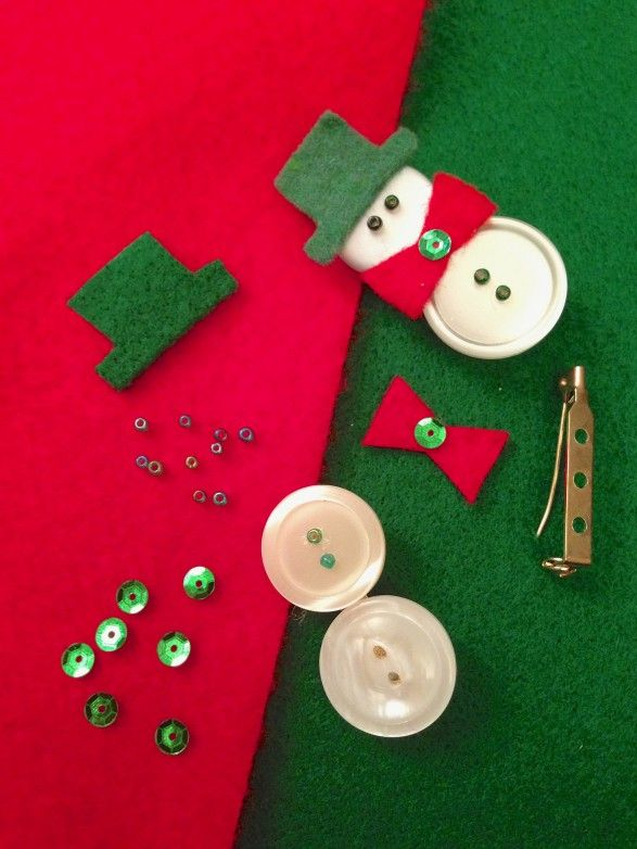 Kids will have a cool time building these easy button snowman pins to share with friends. (The Fountain Avenue Kitchen)