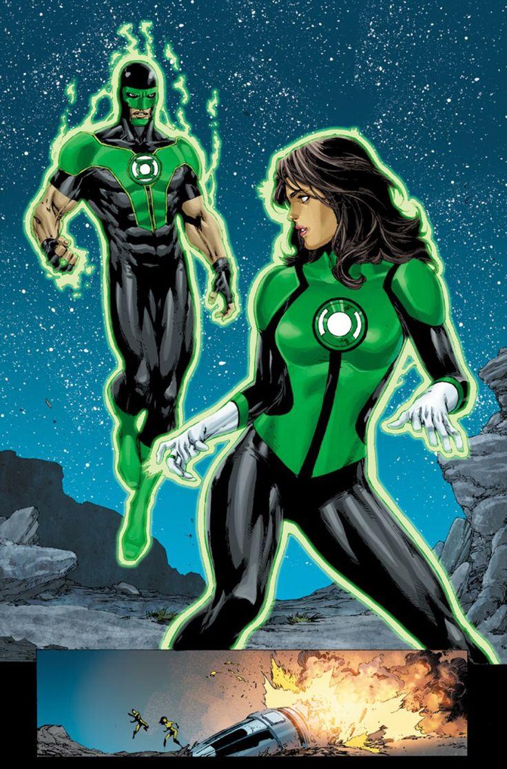 Green Lanterns Jessica Cruz & Simon Baz in Green Lanterns # 1 - Art by Ethan Van Sciver, Ed Benes, & Jason Wright