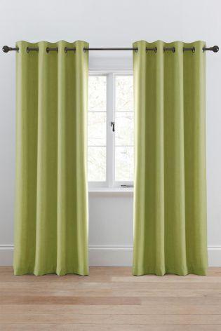 Tonal Weave Eyelet Curtains