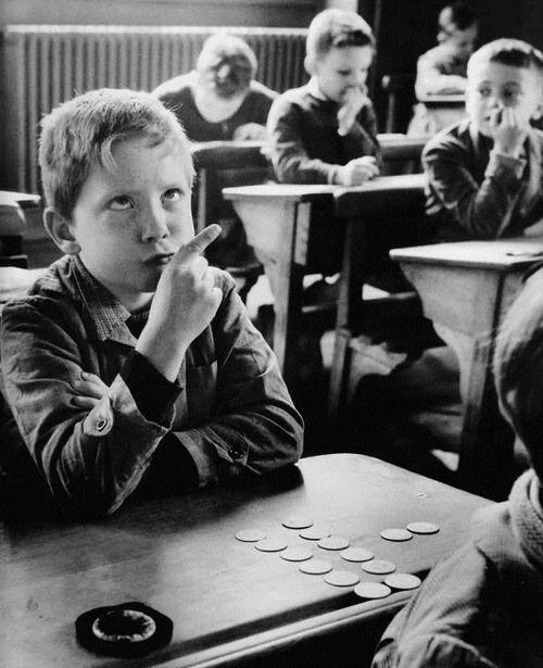 Mental Arithmetic, France, 1956. by Robert Doisneau